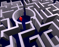 Perso in labirinto Fotografie Stock