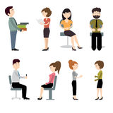 Persobusiness. Set of characters at work Royalty Free Stock Images
