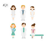 Persomedic. Set of characters, about health professions Royalty Free Stock Photos