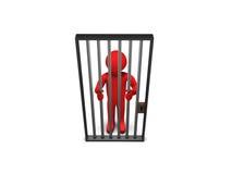 Person 3D als Gefangener lizenzfreie abbildung