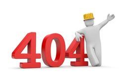 Person and 404 error Stock Image