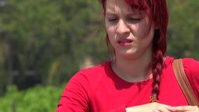 Person And Apathetic Teen infeliz video estoque