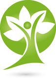 Person as a tree, naturopath and nature logo Stock Photos