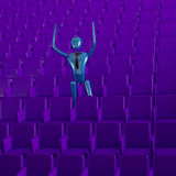 The person in the auditorium Royalty Free Stock Image