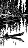 Person auf Boot Stockfoto