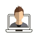 Person avatar user icon Royalty Free Stock Photo