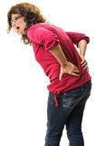 Person back pain screaming Stock Photography