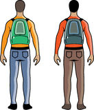 Person with Backpack vector Royalty Free Stock Photo