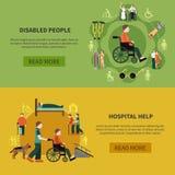 Person Banner Set handicapé par deux Photographie stock