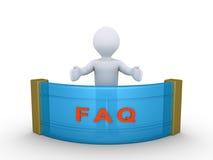 Person beantwortet Fragen Stockfoto