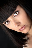 The person of the beautiful girl close up Stock Photos