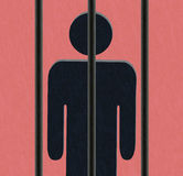 Person behind bars - prisoner Stock Image