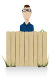 The person behind a fence Stock Photography