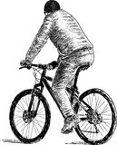 Person on a bicycle Royalty Free Stock Photo