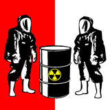 Person in biohazard suit Royalty Free Stock Images