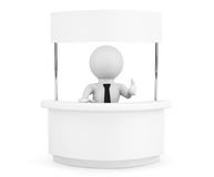 Person with Blank Promotion Stand Royalty Free Stock Photography