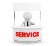 Person with Blank Service Stand Royalty Free Stock Images
