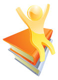 Person on books education concept Stock Photo