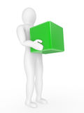 The person with a box in hands Stock Image