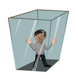 Person in the box Royalty Free Stock Images