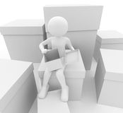 Person with boxes Royalty Free Stock Photography