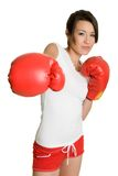 Person Boxing Stock Photo