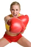 Person Boxing. Beautiful isolated sports person boxing Stock Photos