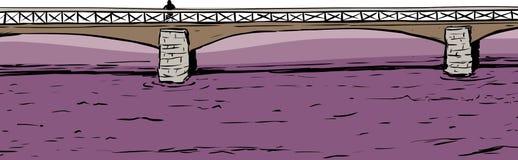 Person On Bridge Over Water Immagini Stock Libere da Diritti