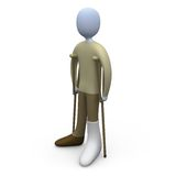 Person With Broken Foot. Computer generated image - Person With Broken Foot Stock Photography