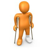 Person With Broken Foot. Computer Generated Image - Person With Broken Foot vector illustration