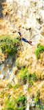 Person during bungy jump Stock Images