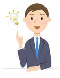 Person business inspiration. Idea proposal Stock Photos