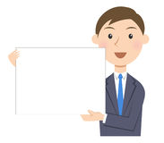 Person business message board. Person business message or flip board Royalty Free Stock Images