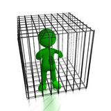 Person in cage. Ready to use for designers and publishers Royalty Free Stock Photography