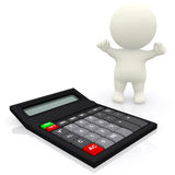 Person with a calculator Stock Images