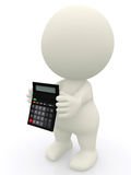 Person with a calculator Stock Image