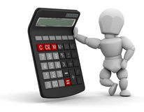Person with calculator Royalty Free Stock Photos
