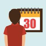 person calendar date tax payment Stock Photos