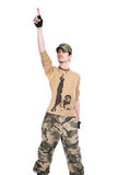 The person in a camouflage Royalty Free Stock Photo