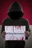 Person campaign to stop terrorism Royalty Free Stock Photography