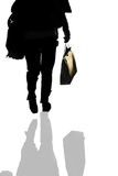Person carrying a bag Stock Photo