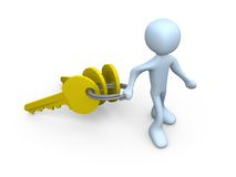 Person Carrying Keys royalty free illustration
