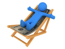 Person on chaise Longue Stock Photography