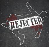 Person Chalk Outline Denied rejeté et refusé Photographie stock