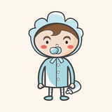 Person character baby theme elements Royalty Free Stock Photo