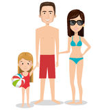Person charcter with Swimwear. Vector illustration design Stock Photos