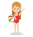 Person charcter with Swimwear. Vector illustration design Royalty Free Stock Image
