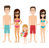 Person charcter with Swimwear. Vector illustration design Stock Photo