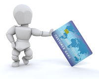 Person with charge card Stock Photography