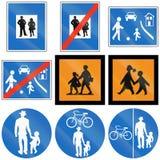 Person And Children Signs in Austria Fotografia Stock Libera da Diritti